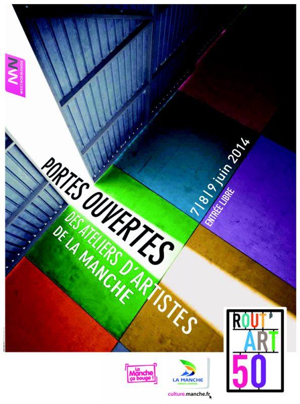 Rout'Art 50, 7-8-9 juin 2014, Portes ouvertes d'Atelier d'Artistes, Equeurdreville (50)
