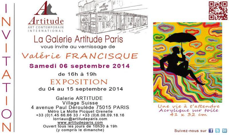 Galerie Artitude, du 4 au 15 septembre 2014, Paris (75)