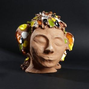 La femme papillon- Terre emaillee-2300g-15x20x20cm